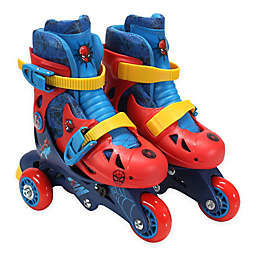 PlayWheels Spider-Man Size 6-9 Convertible 2-in-1 Roller Skates