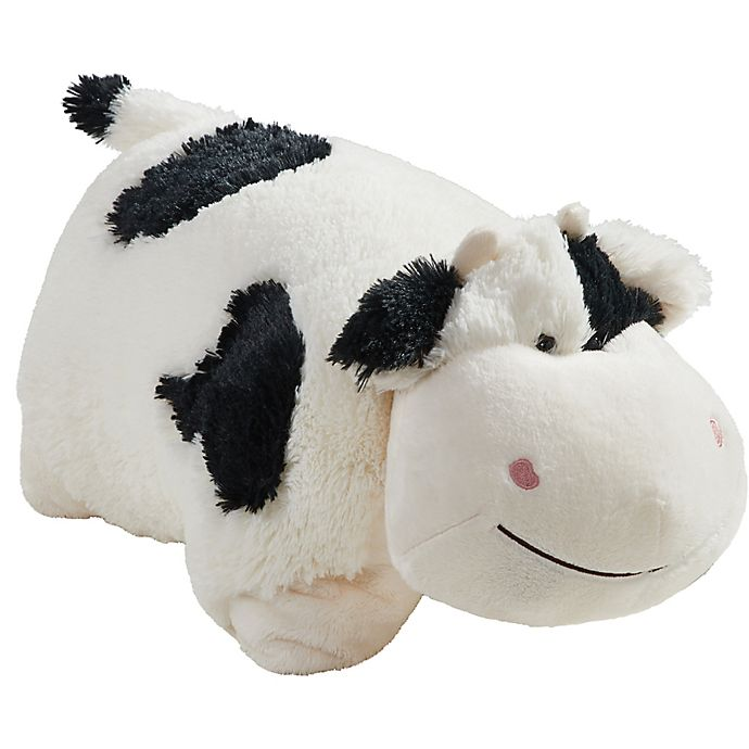 Alternate image 1 for Pillow Pets® Comfy Cow Pillow Pet in Black/White