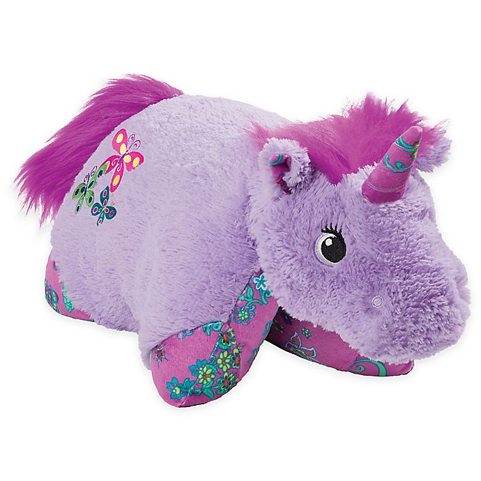Alternate image 1 for Pillow Pets® Colorful Unicorn Pillow Pet in Lavender