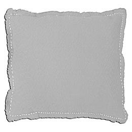 Alamode Home Veren European Pillow Sham in White/Grey