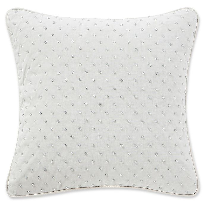 Waterford® Florence Square Throw Pillow in Chambray   Bed Bath