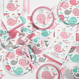 Creative Converting™ 81-Piece Pink Baby Whale Baby Shower Kit