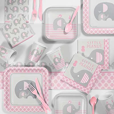 Creative Converting™ 81-Piece Little Peanut Girl Elephant Baby Shower Kit