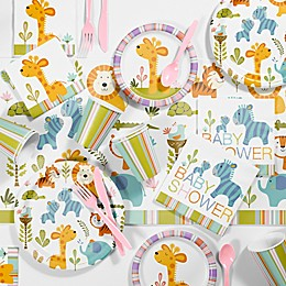Creative Converting™ 81-Piece Happy Jungle Girl Baby Shower Kit