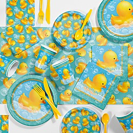 Creative Converting™ 81-Piece Bubble Bath Rubber Duck Baby Shower Kit