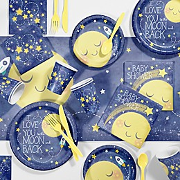 Creative Converting™ 81-Piece To the Moon and Back Baby Shower Kit
