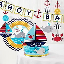 Creative Converting™ 6-Piece Ahoy Matey Nautical Baby Shower Decorations Kit