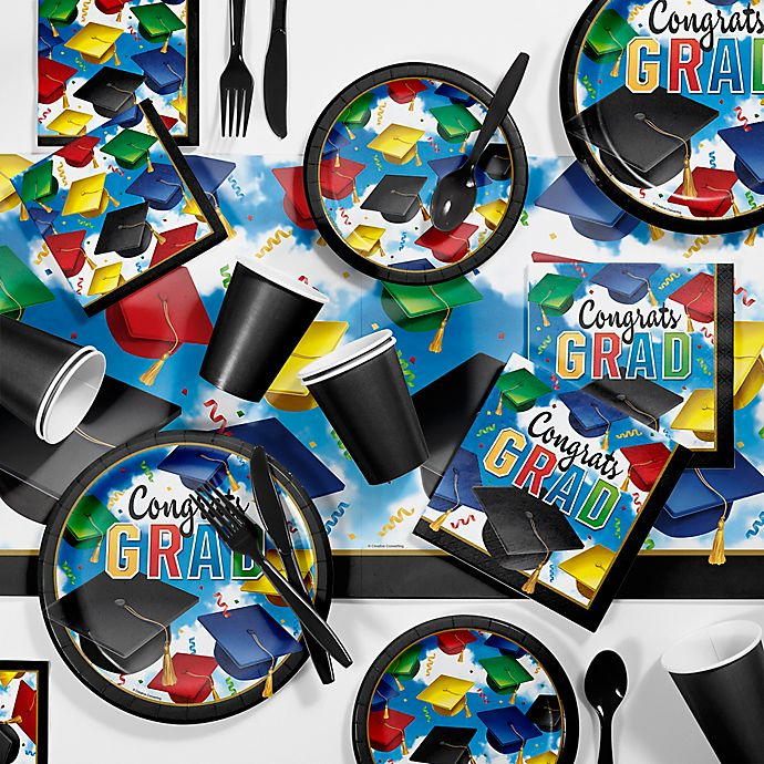 Alternate image 1 for Creative Converting 81-Piece Graduation Celebration Party Supplies Kit