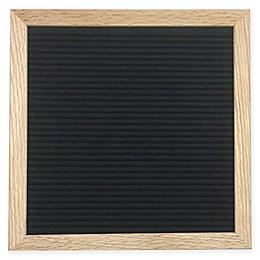 10-Inch x 10-Inch Oak Wood Felt Letter Board