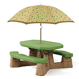 Step2® Naturally Playful Picnic Table with Umbrella in Green