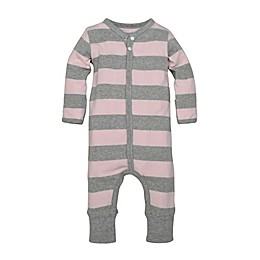 Burt's Bees Baby® Preemie Rugby Stripe Coverall in Pink