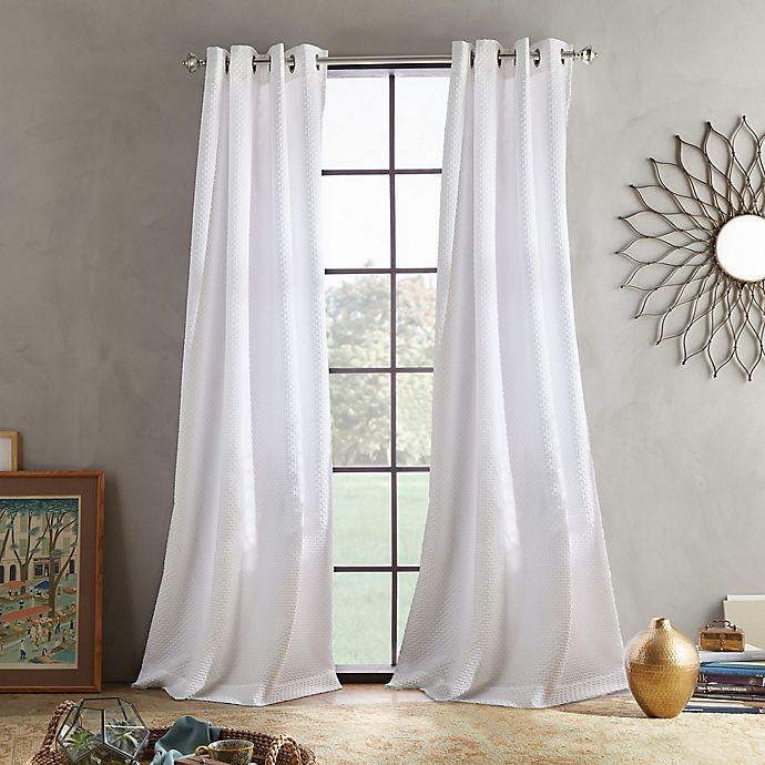 Alternate image 1 for Skylar 108-Inch Grommet Window Curtain Panel in White