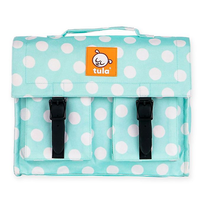 Alternate image 1 for Baby Tula® Mint Candy Dots Kids Backpack in Blue/White