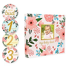 Pearhead® Baby's Floral Memory Book and Sticker Set