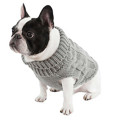 UGG® Cable Knit Dog Sweater in Grey