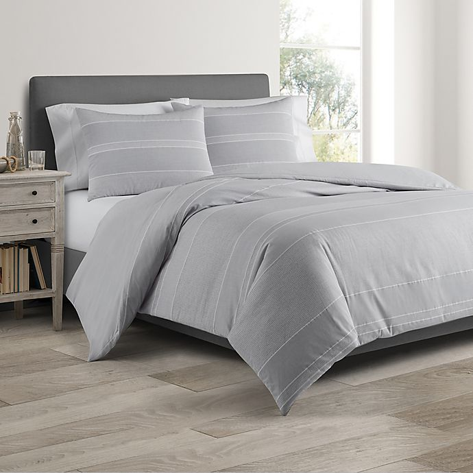 Alternate image 1 for Real Simple® DUO Driftwood Coverlet/Duvet Cover Set