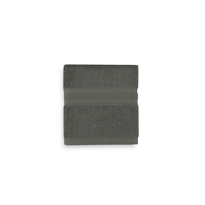 Alternate image 1 for Wamsutta® Icon PimaCott® Hand Towel in Slate Grey