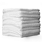 10-Pack Textured Washcloths in White