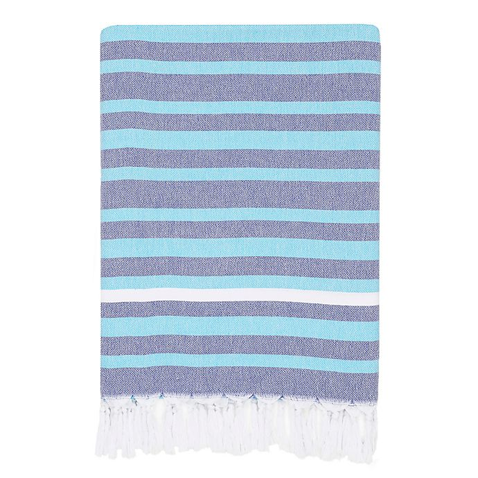 Alternate image 1 for Linum Home Textiles Elegant Stripe Pestemal Beach Towel