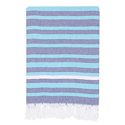 Linum Home Textiles Elegant Stripe Pestemal Beach Towel