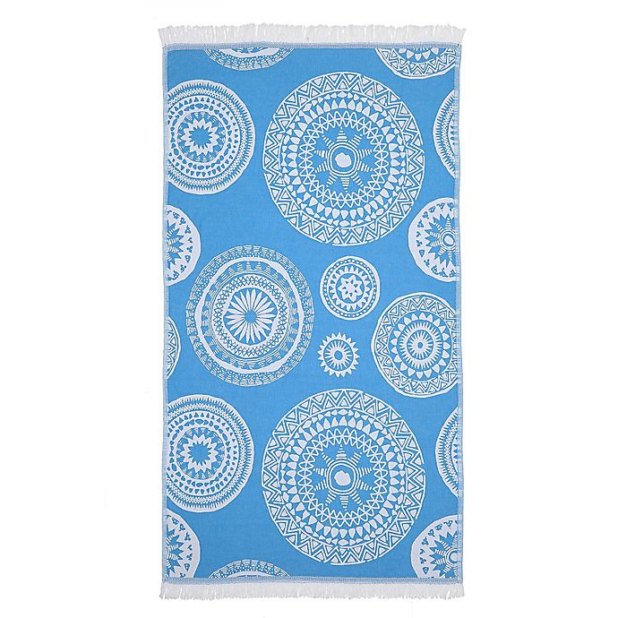 Alternate image 1 for Linum Home Textiles Zarya Pestemal Beach Towel in Turquoise