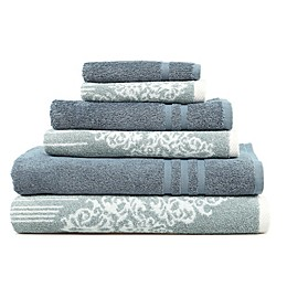 Linum Home Textiles 6-Piece Gioia and Denzi Bath Towel Set