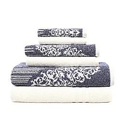 Linum Home Textiles 6-Piece Gioia and Denzi Bath Towel Set