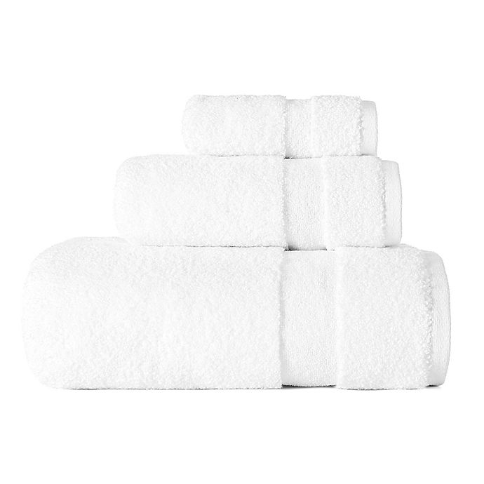 Alternate image 1 for ED Ellen DeGeneres 3-Piece Kindness Bath Towel Set in White