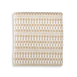Style Lounge Geometric Cotton Bath Towel in Sand