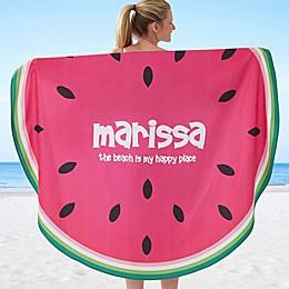 Slice of Summer 60-Inch Round Beach Towel