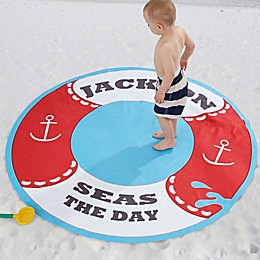 Life Preserver 60-Inch Round Beach Towel