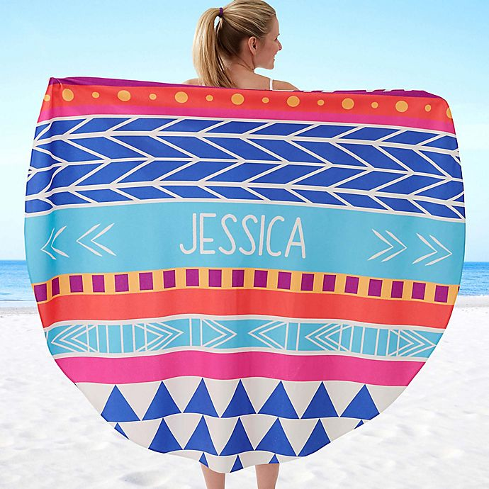 Alternate image 1 for Bohemian Chic 60-Inch Round Beach Towel