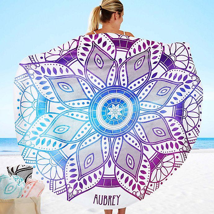 Alternate image 1 for Mandala 60-Inch Round Beach Towel