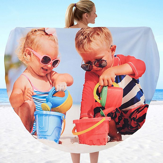Alternate image 1 for Photo Round Beach Towel