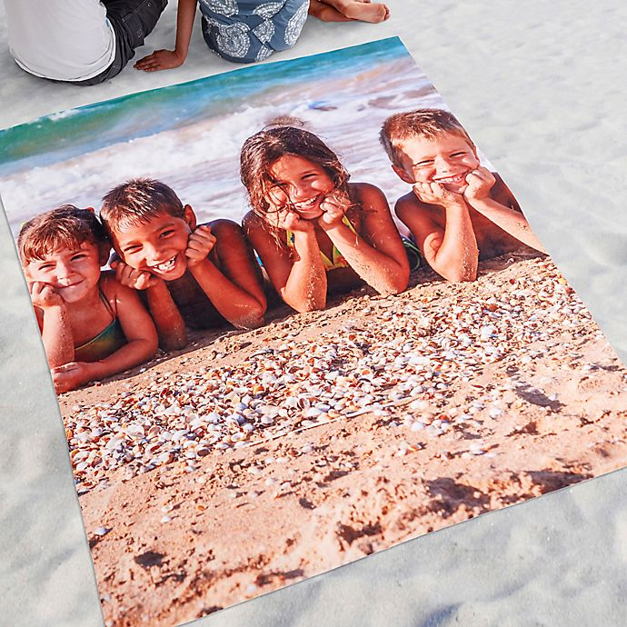 Alternate image 1 for Time To Smile Photo Beach Blanket