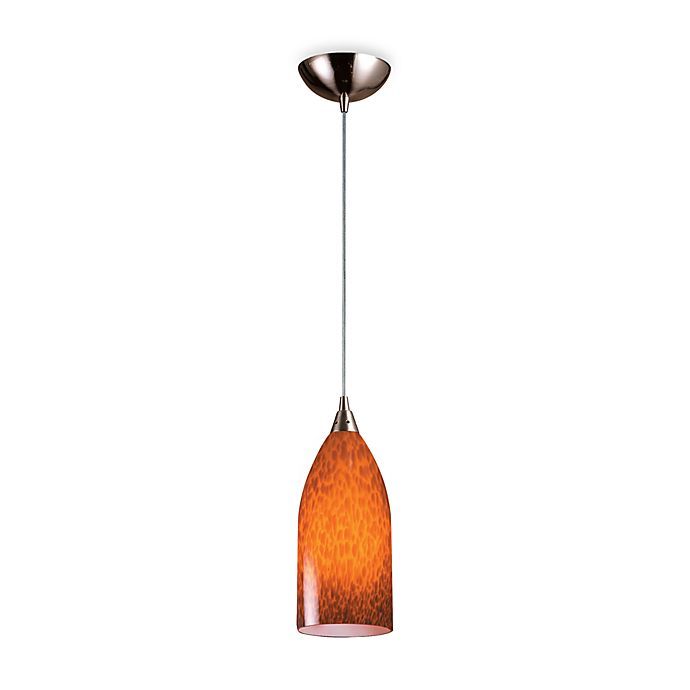 Elk Lighting Fans: ELK Lighting 1-Light Pendant With Satin Nickel Finish And