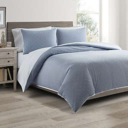 Real Simple® DUO Clipped Jacquard Butterfly Coverlet/Duvet Cover Set