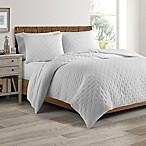 Real Simple® DUO Westwood Full/Queen Coverlet/Duvet Cover Set in White