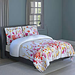 Flower Print Reversible Comforter Set