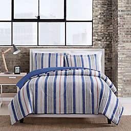 Chambray Stripe 3-Piece King Comforter Set