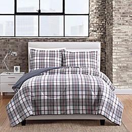Twill Plaid 3-Piece Comforter Set