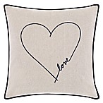 "ED Ellen DeGeneres Jaspe ""Love"" Square Throw Pillow in Beige"