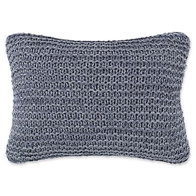 ED Ellen DeGeneres Jaspe Knit Breakfast Throw Pillow in Dark Blue