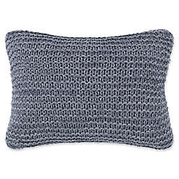 ED Ellen DeGeneres Jaspe Knit Breakfast Throw Pillow in Dark Blue