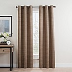 Roland 84-Inch Grommet Room Darkening Window Curtain Panel Pair in Mocha