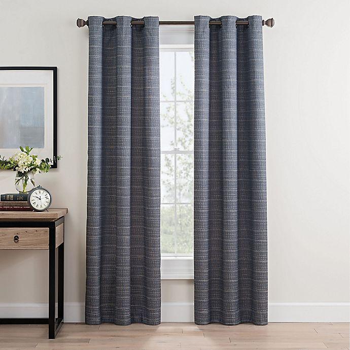 Alternate image 1 for Roland 84-Inch Grommet Room Darkening Window Curtain Panel Pair in Indigo