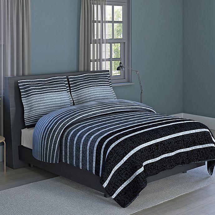 Alternate image 1 for Harper Stripe 3-Piece Full/Queen Comforter Set in Grey