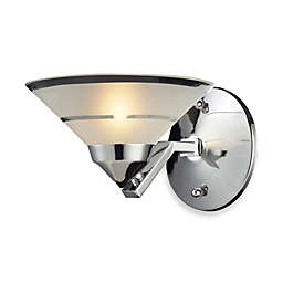ELK Lighting Refraction Collection 1-Light Sconce In Polished Chrome And Etched Clear Glass