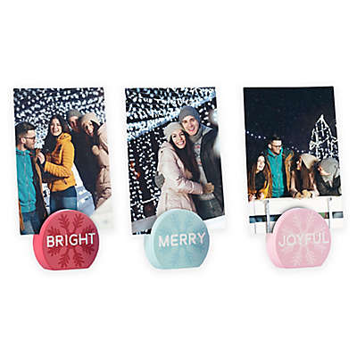 Pearhead Holiday Photo Stands (Set of 3)