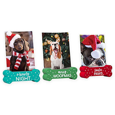 Pearhead® Pets Holiday Photo Stands (Set of 3)